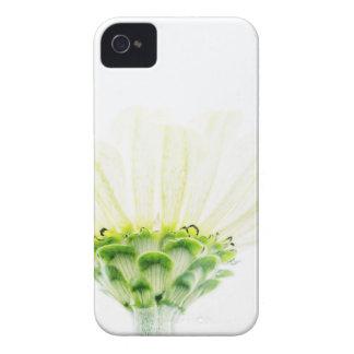 単純化した白い《植物》百日草 Case-Mate iPhone 4 ケース