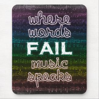 単語が失敗する一方、音楽はマウスパッドを話します マウスパッド