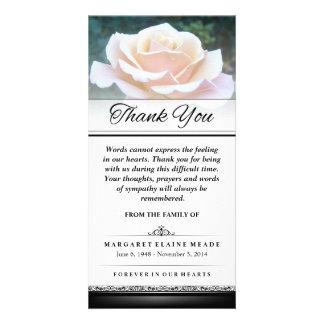 単語が表現できない葬儀の白いバラありがとう カード