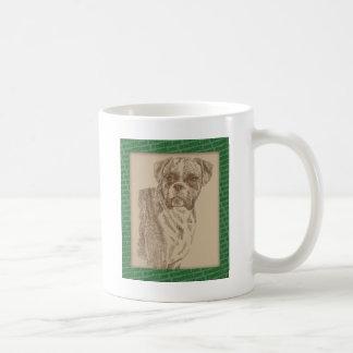 単語だけから描かれるボクサーの芸術 コーヒーマグカップ