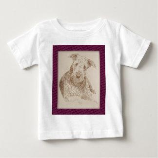 単語だけから描かれるAiredaleテリアの芸術 ベビーTシャツ