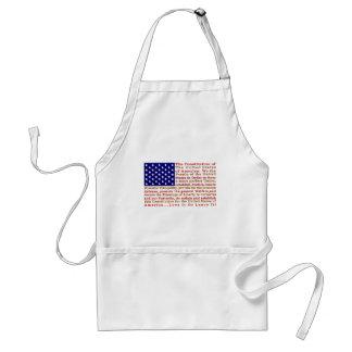 単語とアメリカ米国の旗憲法 スタンダードエプロン