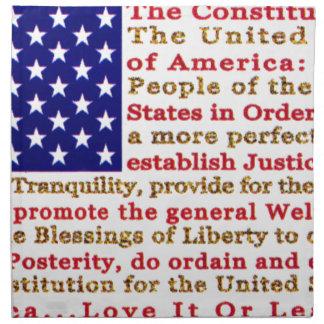 単語とアメリカ米国の旗憲法 ナプキンクロス