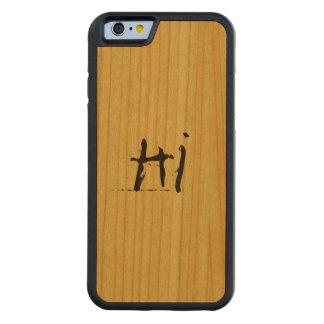 単語のこんにちは豊富なさくらんぼが付いている木 CarvedチェリーiPhone 6バンパーケース