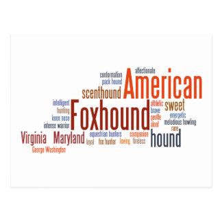 単語のアメリカFoxhound ポストカード