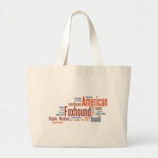 単語のアメリカFoxhound ラージトートバッグ