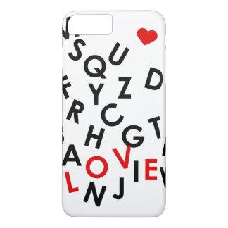 単語のアルファベット: 愛 iPhone 8 PLUS/7 PLUSケース