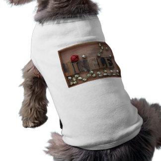 単語のジングルペットワイシャツが付いている鐘 ペット服