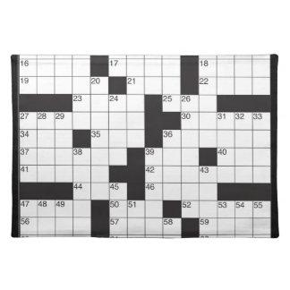 単語のパズルのアメリカ人のMoJoの十字のランチョンマット ランチョンマット