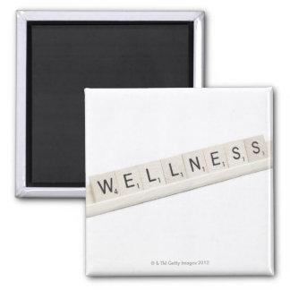 単語のボードゲームで綴られる健康 マグネット
