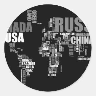 単語の世界地図 ラウンドシール
