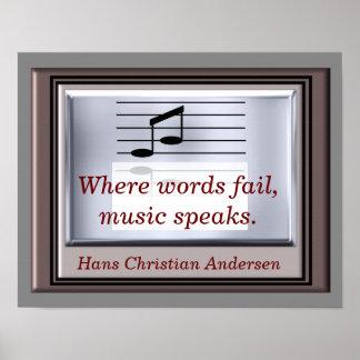 単語の失敗一方、 -- 音楽引用文-芸術のプリント ポスター