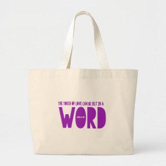 単語の戦闘状況表示板 ラージトートバッグ