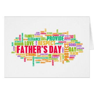 単語の特別な日として父の日 カード