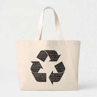 単語の芸術のバッグは節約する多くの方法を私達に思い出させます ラージトートバッグ