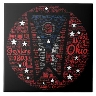 """単語の芸術(6"""" X6"""")の陶磁器の写真のタイルオハイオ州 タイル"""