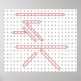 単語の調査のギーク ポスター