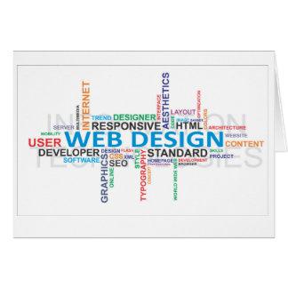 単語の雲のウェブデザイン カード