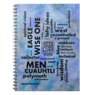 単語の雲の人のCuauhtliのマヤのアステカなノート ノートブック