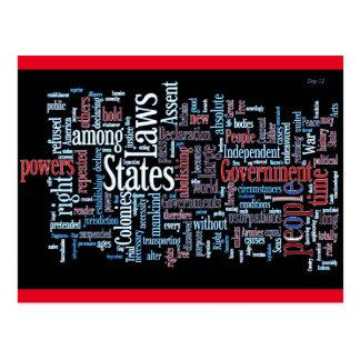 単語の雲独立宣言 ポストカード