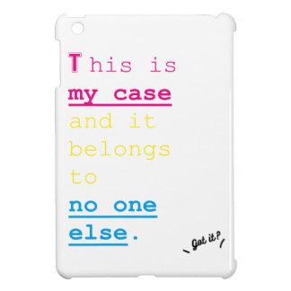 単語はですちょうど足りるだけのシリーズ私の場合(タブレット) iPad MINIケース