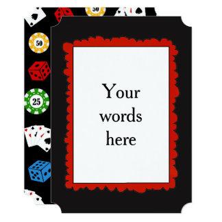 単語をあらゆる目的のカジノのパーティの招待状加えて下さい カード