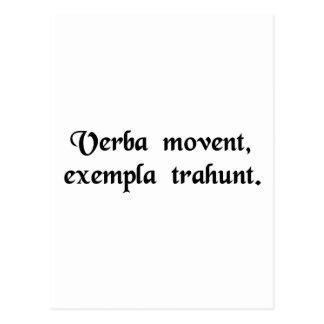 単語移動人々、例はそれらを強います ポストカード