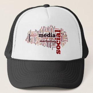 単語雲社会的な媒体の文字 キャップ
