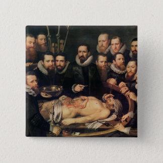 博士のバンのderのウィレム解剖学のレッスン 5.1cm 正方形バッジ