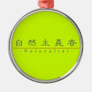 博物学者10380_2.pdfのための中国のな単語 シルバーカラー丸型オーナメント