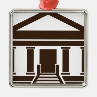 博物館銀行政府の建物アイコン メタルオーナメント