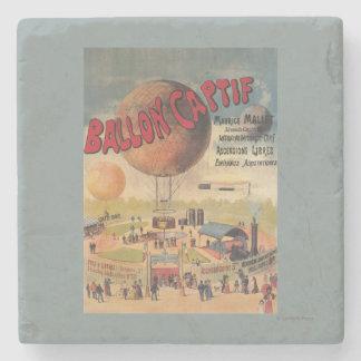 博覧会ポスターの捕虜気球の乗車 ストーンコースター