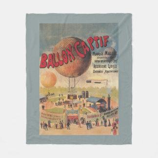 博覧会ポスターの捕虜気球の乗車 フリースブランケット