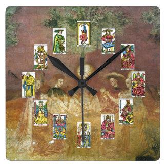 占いカードの占い師の時計 スクエア壁時計