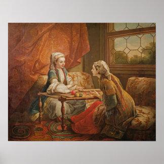占い師の役割のde Pompadour夫人 ポスター
