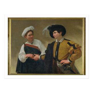 占い師(La Buonaベントゥーラ)、c.1594 ポストカード