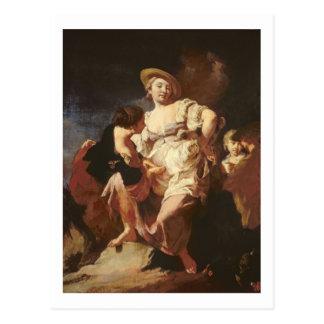 占い師(L'Indivona)、1740年 ポストカード