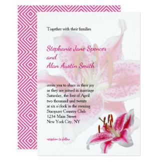 占星家のシルエットの結婚式招待状 カード