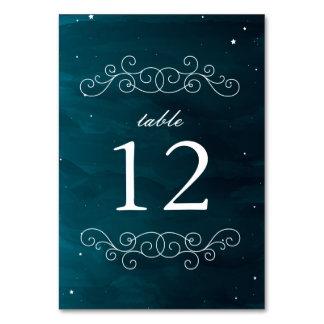 占星家の結婚式のテーブル数 カード