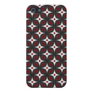 占星家の芸術のiPhone 4のSpeckの赤く及び黒い箱 iPhone SE/5/5sケース