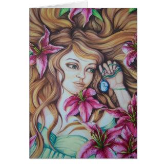 占星家ユリの女神のファンタジーのメッセージカード カード