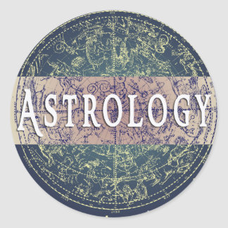 占星術のジャンルの円形の表紙のステッカー ラウンドシール