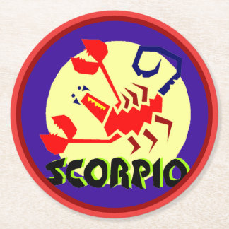 占星術の占星術の印の蠍座円形のCoastera ラウンドペーパーコースター