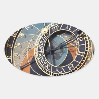 占星術の時計のチェコの古代時計 楕円形シール