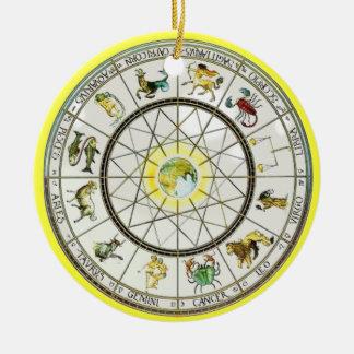 (占星術の)十二宮図のオーナメント セラミックオーナメント