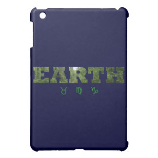 (占星術の)十二宮図のシンボルや象徴が付いている地球 iPad MINI カバー