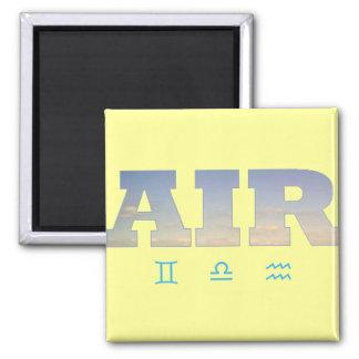 (占星術の)十二宮図のシンボルや象徴が付いている空気要素 マグネット