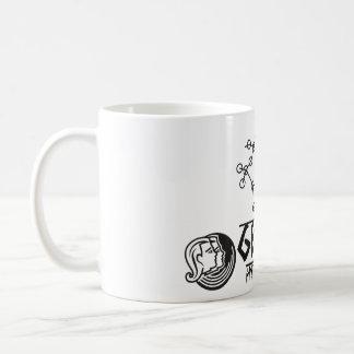 (占星術の)十二宮図のジェミニ コーヒーマグカップ
