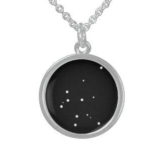 (占星術の)十二宮図のネックレス: アクエリアス スターリングシルバーネックレス