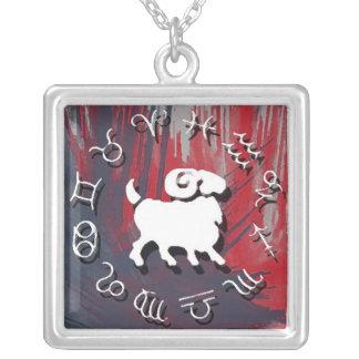 (占星術の)十二宮図のネックレス-牡羊座 カスタムネックレス